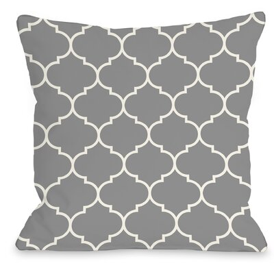 East Village Repeating Moroccan Outdoor Throw Pillow Color: Gray, Size: 16 x 16