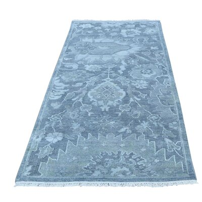 One-of-a-Kind Ledford Oidized Oriental Hand-Knotted Silk Area Rug
