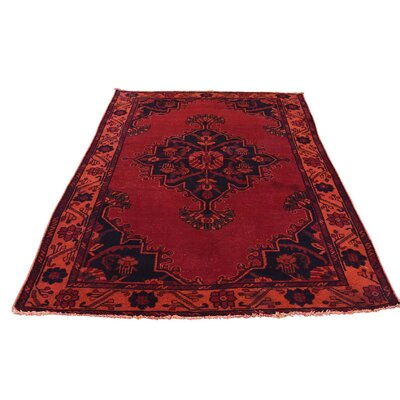 One-of-a-Kind Kenilworth Vintage Overdyed Oriental Hand-Knotted Area Rug