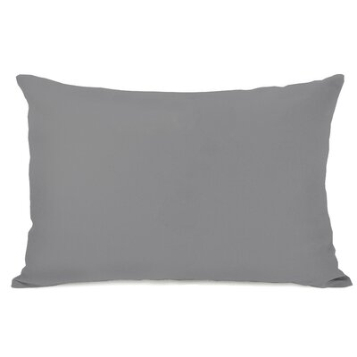 Duppstadt Solid Outdoor Lumbar Pillow Color: Gray