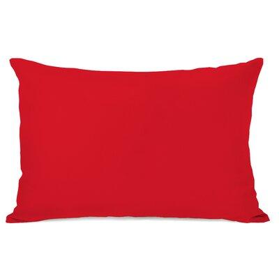 Duppstadt Solid Outdoor Lumbar Pillow Color: Red