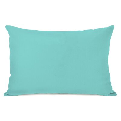 Duppstadt Solid Outdoor Lumbar Pillow Color: Sky Blue