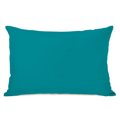 Duppstadt Solid Outdoor Lumbar Pillow Color: Teal Blue