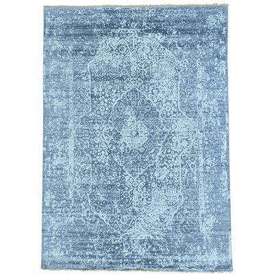 One-of-a-Kind Matheus Broken Oriental Hand-Knotted Silk Area Rug