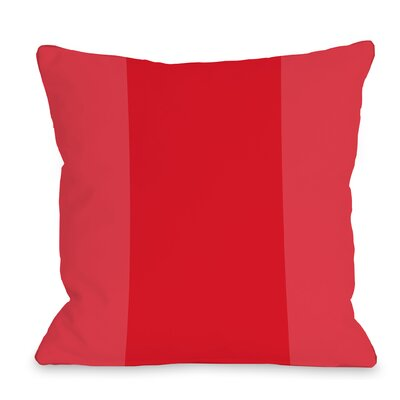 Dupree Color Block Outdoor Throw Pillow Size: 16 x 16, Color: Red