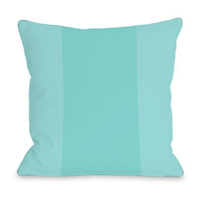 Dupree Color Block Outdoor Throw Pillow Size: 16 x 16, Color: Sky Blue
