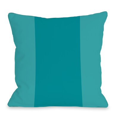 Dupree Color Block Outdoor Throw Pillow Size: 18 x 18, Color: Teal Blue