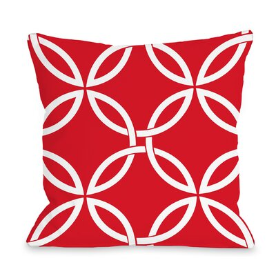 Melfa Interwoven Outdoor Throw Pillow Size: 16 x 16, Color: Red