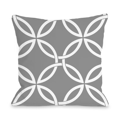 Melfa Interwoven Outdoor Throw Pillow Size: 16 x 16, Color: Gray