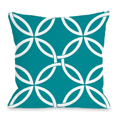 Melfa Interwoven Outdoor Throw Pillow Size: 18 x 18, Color: Teal Blue