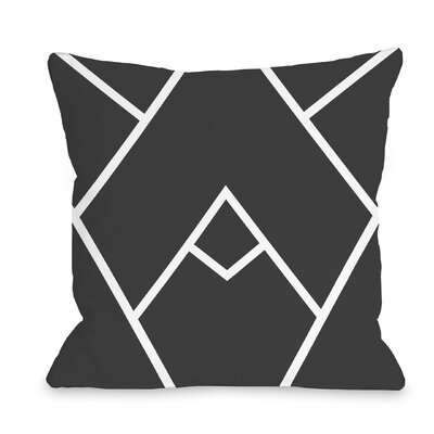 Melgar Outdoor Throw Pillow Size: 16 x 16, Color: Black