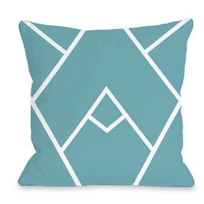 Melgar Outdoor Throw Pillow Size: 18 x 18, Color: Blue
