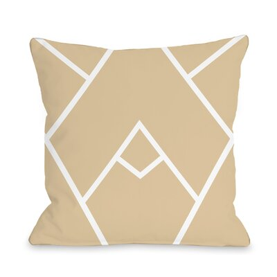 Melgar Outdoor Throw Pillow Size: 16 x 16, Color: Brown