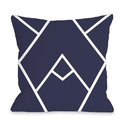 Melgar Outdoor Throw Pillow Size: 16 x 16, Color: Dark Blue
