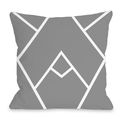 Melgar Outdoor Throw Pillow Size: 16 x 16, Color: Gray