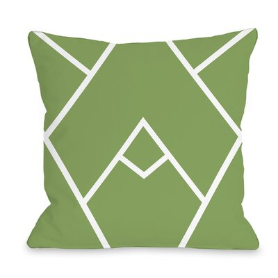 Melgar Outdoor Throw Pillow Size: 18 x 18, Color: Green
