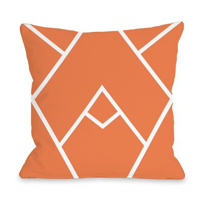 Melgar Outdoor Throw Pillow Size: 16 x 16, Color: Orange