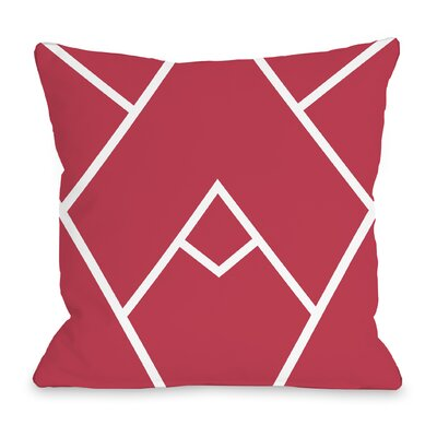 Melgar Outdoor Throw Pillow Size: 18 x 18, Color: Red