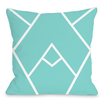 Melgar Outdoor Throw Pillow Size: 18 x 18, Color: Sky Blue