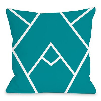 Melgar Outdoor Throw Pillow Size: 16 x 16, Color: Teal Blue