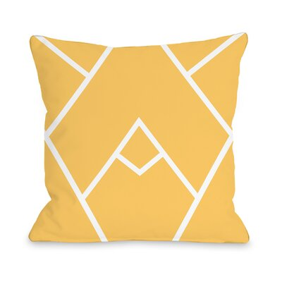 Melgar Outdoor Throw Pillow Size: 18 x 18, Color: Yellow