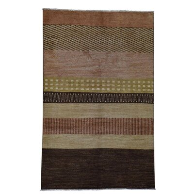 One-of-a-Kind Grabowski Striped Oriental Hand-Knotted Area Rug