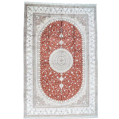 One-of-a-Kind Samons 250 kspi Oriental Hand-Knotted Silk Area Rug
