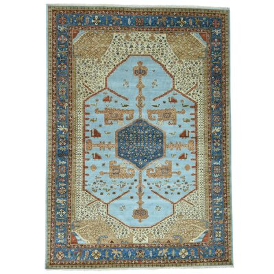 One-of-a-Kind Griego Natural Dyes Oriental Hand-Knotted Area Rug