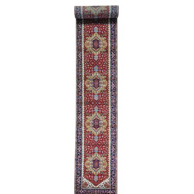 One-of-a-Kind Salzman Serapi Oriental Hand-Knotted Area Rug