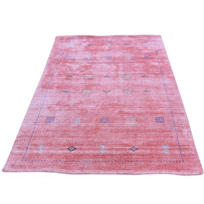 One-of-a-Kind Cienna Modern Oriental Hand-Knotted Silk Area Rug