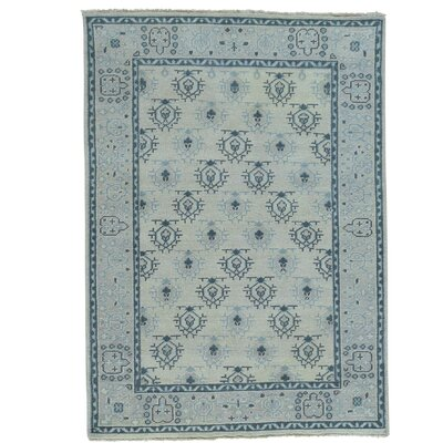 One-of-a-Kind Pavot Knot Oushak Oriental Hand-Knotted Area Rug