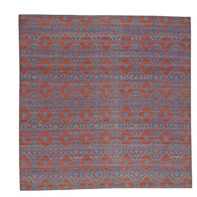 Reversible Flat Weave Durie Kilim Oriental Hand-Knotted Red Area Rug