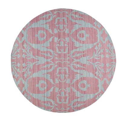 Flat Weave Reversible Kilim Hand-Knotted Pink Area Rug