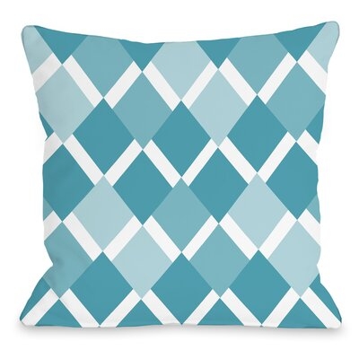 Van Cleef Throw Pillow Size: 18 x 18, Color: Blue