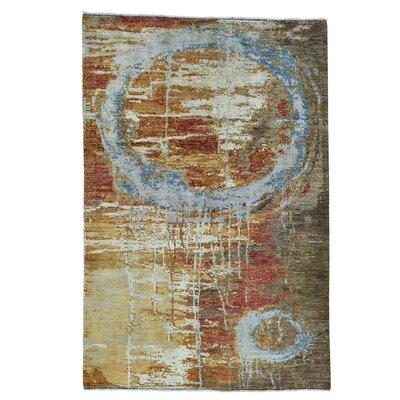 One-of-a-Kind Edgebrooke Peshawar Abstract Hi and Low Hand-Knotted Area Rug