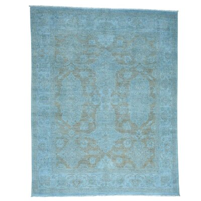 One-of-a-Kind Melodi Overdyed Oriental Hand-Knotted Area Rug