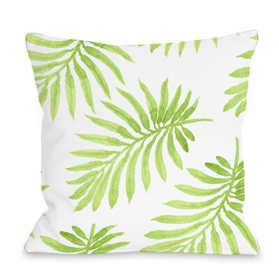 Morganton Palm Throw Pillow Size: 18 x 18, Color: Green