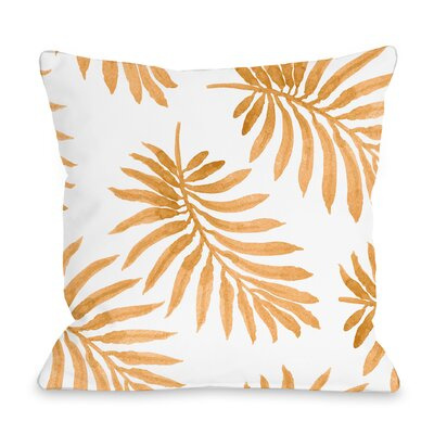 Morganton Palm Throw Pillow Size: 18 x 18, Color: Orange