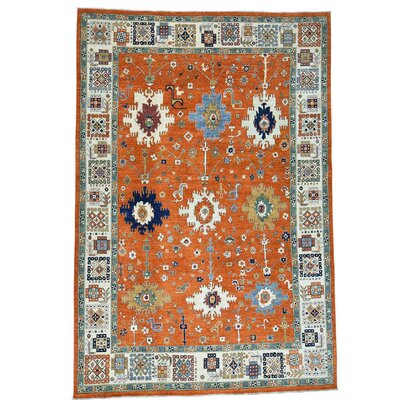 Mahal Oriental Hand-Knotted Red Area Rug