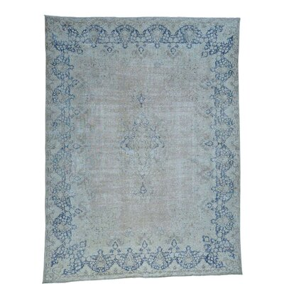 Kerman Hand-Knotted Gray Area Rug