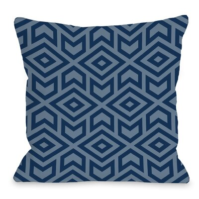 Gerson Throw Pillow Size: 18 x 18, Color: Navy Blue