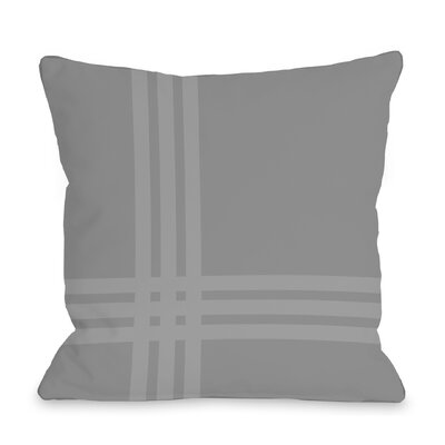 Plaid Throw Pillow Size: 16 x 16, Color: Gray