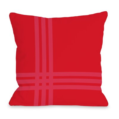 Plaid Throw Pillow Size: 18 x 18, Color: Red
