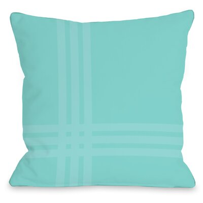 Plaid Throw Pillow Size: 18 x 18, Color: Teal Blue