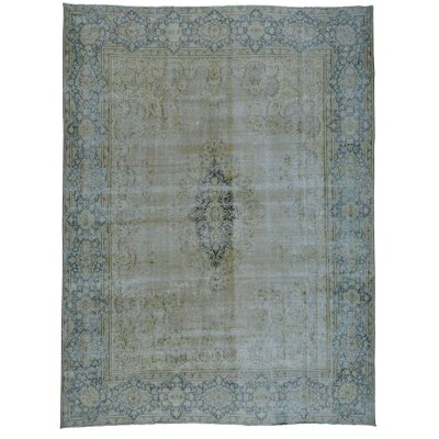 Kerman Hand-Knotted Beige Area Rug