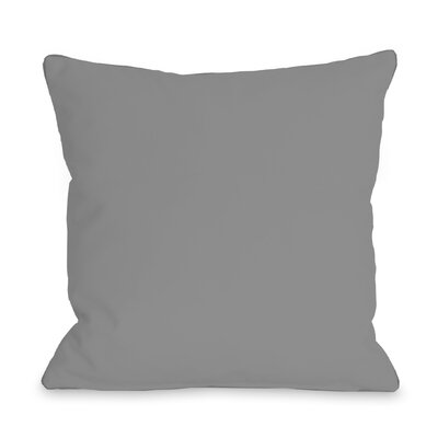 Solid Outdoor Throw Pillow Color: Gray, Size: 16 x 16