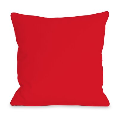 Solid Outdoor Throw Pillow Color: Red, Size: 16 x 16