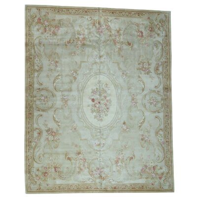 Charles and Plush Savonnerie Hand-Knotted Ivory Area Rug