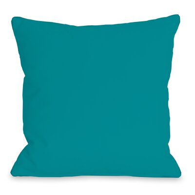 Solid Outdoor Throw Pillow Color: Sky Blue, Size: 16 x 16