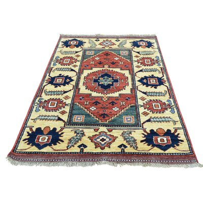 Afghan Ersari Oriental Hand-Knotted Red Area Rug